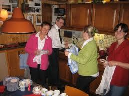De dames die voor het eten zorgden tijdens ons verblijf in Kaarst.